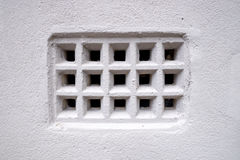 Closeup of vintage rustic old fashioned air ventilation grille Stock Photo