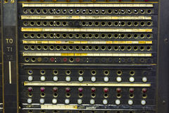 Closeup of a Vintage Telephone Switchboard Royalty Free Stock Photo