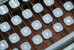 VINTAGE TYPEWRITER. Closeup of vintage typewriter keyboard royalty free stock photos
