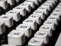 Closeup of vintage typewriter keyboard Royalty Free Stock Photo