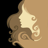 Closeup vintage woman Royalty Free Stock Images