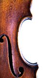 Closeup Violin F Hole Stock Images
