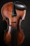 Closeup of violin instrument. Classical music art Royalty Free Stock Photo