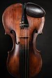 Closeup of violin instrument. Classical music art royalty free stock photo