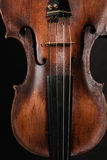 Closeup of violin instrument. Classical music art Stock Photos