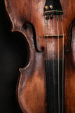 Closeup of violin instrument. Classical music art Stock Photography