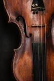 Closeup of violin instrument. Classical music art stock photography