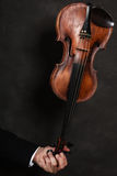 Closeup of violin instrument. Classical music art Royalty Free Stock Photography