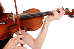 Closeup of violin playing. Stock Photography