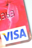 Closeup of VISA credit card Stock Photo