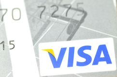 Closeup of VISA credit card Stock Image