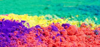 Closeup of vivid color gulal Royalty Free Stock Photography