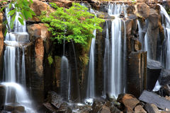 Closeup of wachirathan waterfall, Inthanon National Park, Thaila Royalty Free Stock Photos