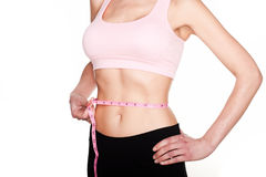 Closeup Waist Measurement Royalty Free Stock Images