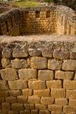 Closeup of wall construction Ingapirca important Royalty Free Stock Images