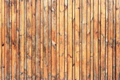 Closeup of wall made of wooden planks Royalty Free Stock Photos
