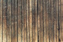 Closeup of wall made from wooden planks Royalty Free Stock Photography