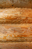 Closeup of wall of wooden house Royalty Free Stock Photography