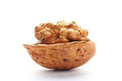 Closeup of a walnut Royalty Free Stock Images