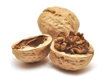 Closeup of a walnut Stock Image