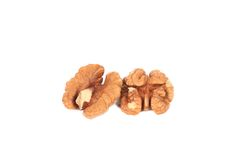 Closeup of walnut kernels. Royalty Free Stock Photography