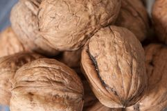 Walnuts in a bowl Royalty Free Stock Image