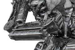 Closeup War Machine Sculpture Made From Scrap Metal Stock Photo