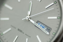 Closeup Of Watch. Closeup of a watch with shallow depth of field stock image