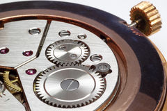Closeup of watch gears Royalty Free Stock Images