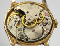 Closeup of watch mechanism Stock Photo
