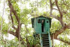 Closeup of a Watch tower at Jhirna Forest, Jim Corbett Stock Photography