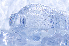 Closeup of a Water Bottle on its Side Stock Images