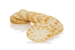 Closeup water crackers Royalty Free Stock Photo