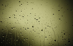 Closeup of water drops on glass as background Royalty Free Stock Image