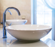 Closeup of water-supply faucet Royalty Free Stock Photography