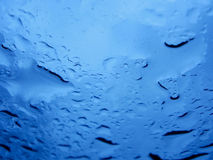 Closeup of Water on Window.  Royalty Free Stock Images