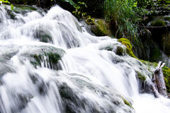 Closeup waterfall Stock Photo