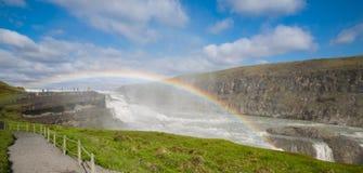 Closeup of Waterfall Gullfoss, Iceland Stock Photos