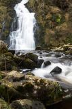 Closeup of Waterfall and Stream Royalty Free Stock Image