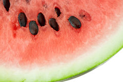Closeup of watermelon with sids in it Royalty Free Stock Photography