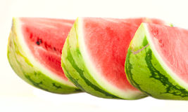Closeup of watermelon slices Royalty Free Stock Photos