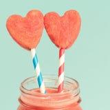Closeup of watermelon smoothie Stock Photos