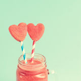 Closeup of watermelon smoothie Stock Photography