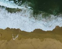 Closeup Wave Aerial Shot royalty free stock photography