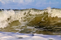 Closeup of Waves at sunrise, Wabaso, FL. Waves from the beach at Wabaso, FL taken from up close Stock Photo