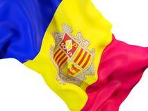 Waving flag of andorra Royalty Free Stock Photo
