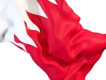 Waving flag of bahrain. Closeup of waving flag of bahrain. 3D illustration Royalty Free Stock Photos