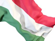 Waving flag of hungary Stock Images