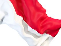 Waving flag of monaco Stock Image