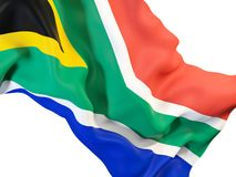 Waving flag of south africa Royalty Free Stock Images